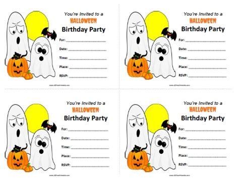 printable halloween themed birthday invitations halloween birthday invitations free printable