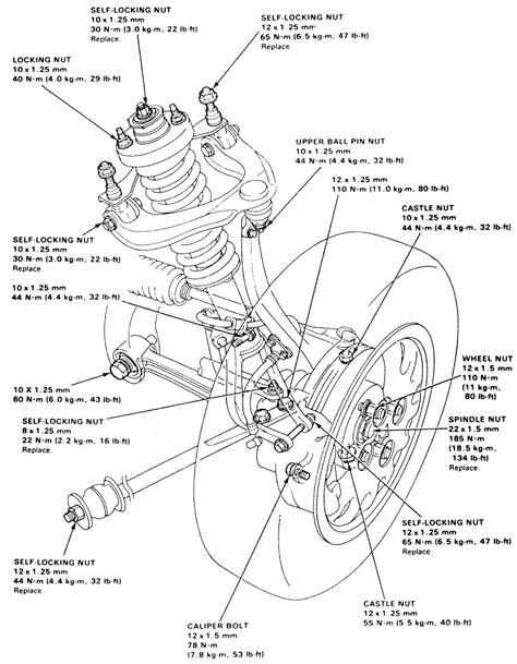diagram  student honda accord front suspension diagram