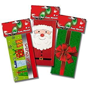 Amazon Christmas Gift Cards - amazon com 24 ct christmas gift card holders with envelopes christmas money card