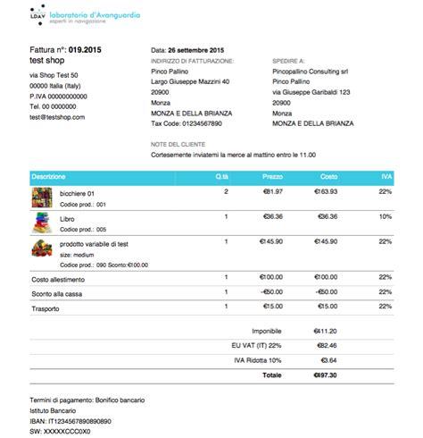 modelli di un modello di fattura per l italia per woocommerce pdf