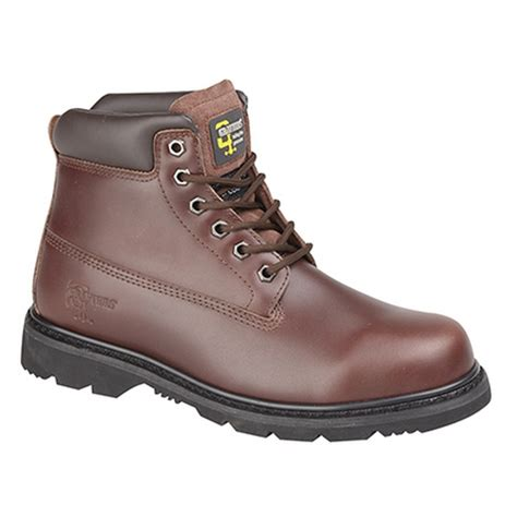 grafters mens 6 eye padded leather work boots ebay