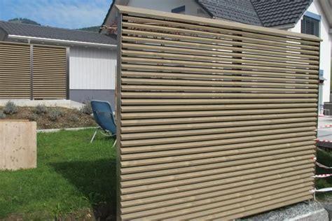 Windschutz Aus Holz 406 sichtschutz garten holz lamellen terrasse