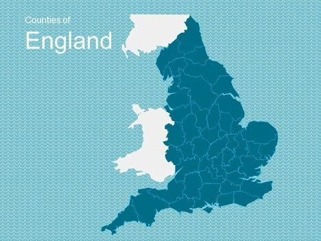 Map Of England Template Microsoft Powerpoint Templates Uk