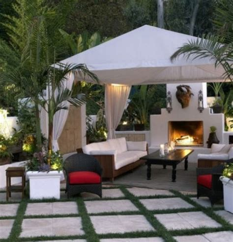 backyard gazebo with fireplace pergolas gazebo