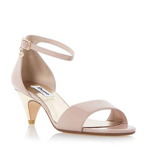 blush sandals dune marina two part kitten heel sandals in pink blush