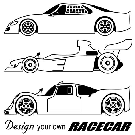 Race Cars Coloring Pages Free Large Images Coloring Race Car Template Printable