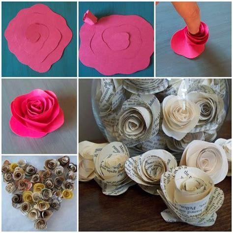 Paper Roses Easy - diy easy paper