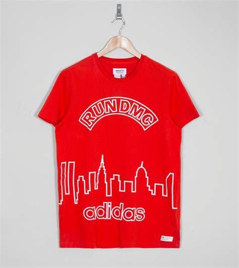Tshirt Run Dmc Blue adidas originals blue run dmc graphic t shirt size