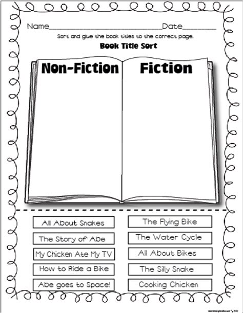 Nonfiction Worksheets how to writing and non fiction activities