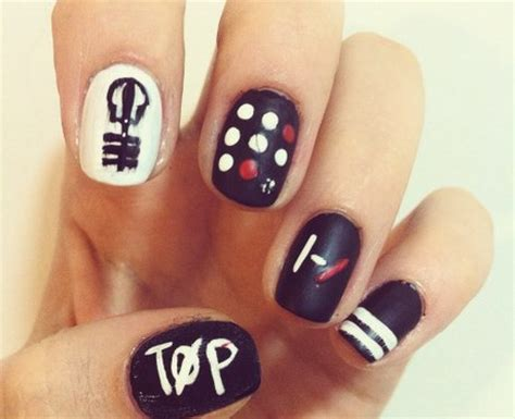 Twenty One Pilots Nail Designs twenty pilots nail that will cement your place in the