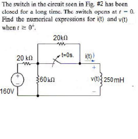 suppose the switch is closed for a time how much energy is stored in the inductor the switch in the circuit seen in fig 2 has been chegg