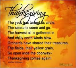 Thanksgiving Peom Thanksgiving Poems And Quotes Quotesgram