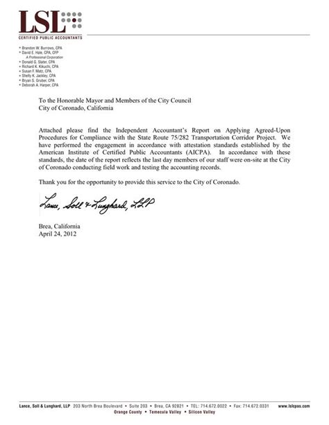 Thank You Letter For Audit Coronado Tunnel Audit Completed Coronado Common Sense