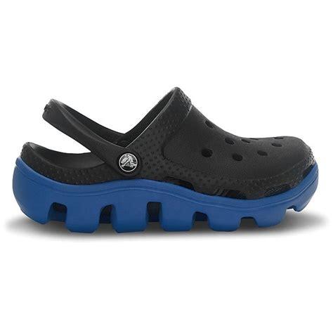 crocs sport shoes crocs duet sport clog black sea blue slip on shoes