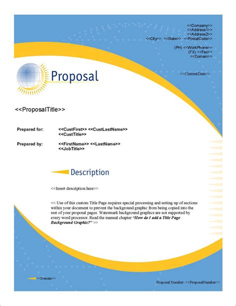design proposal title proposal pack global 1 software templates sles