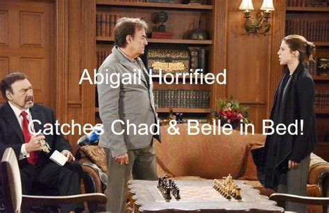 days of our lives spoilers chad and belle grow closer days of our lives dool spoilers abigail catches chad