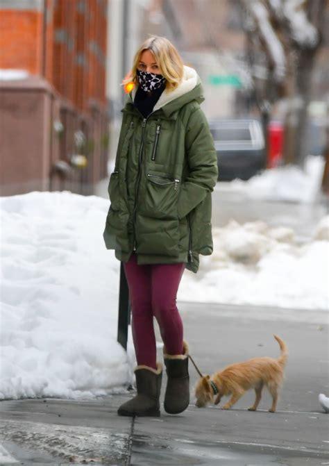 naomi watts winter street style  york