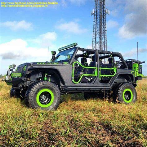 green zombie jeep car bike fanatics modified jeep wrangler