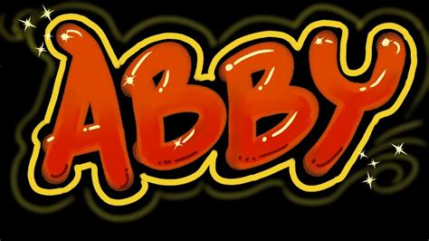 abby graffiti letters speed version