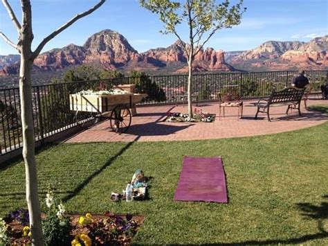 love the wedding garden! It's perfect for yoga.   Picture