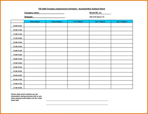 Free Schedule Templates weekly schedule template free