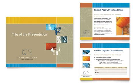 presentation template design architectural firm powerpoint presentation template design