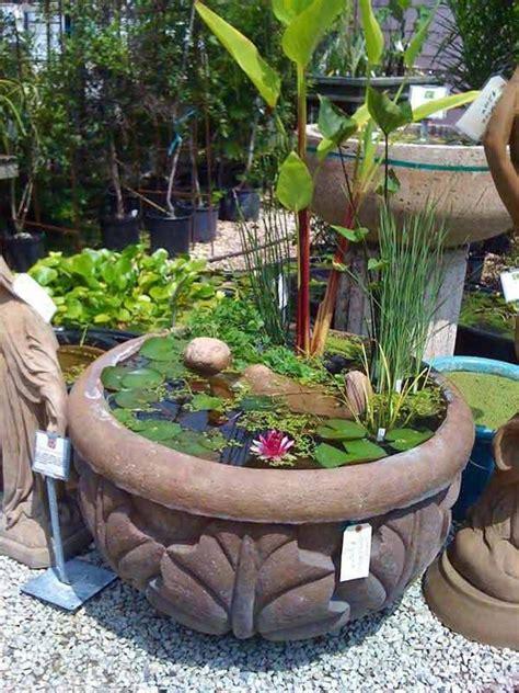 Container Water Garden Ideas Best 25 Mini Pond Ideas On Pond Ideas Container Pond And Outdoor Ponds