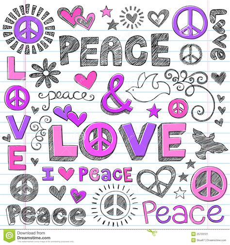 imagenes de amor y paz tumblr vector incompleto de los doodles de la paz y del amor