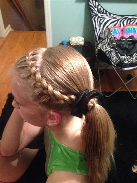 Hair Styles For Gymnastic Meets | gymnastics hairstyle hairstyles pinterest gymnastics