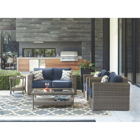 home decorators collection gray furniture the home depot home decorators collection naples grey 4 piece all weather