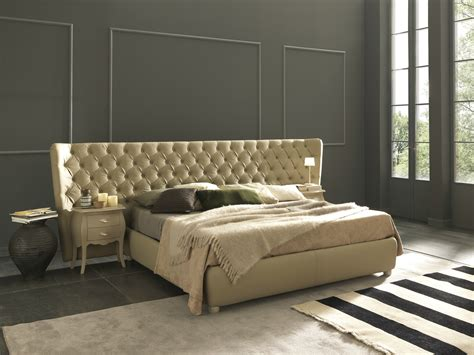 Beds With Large Headboards bed with tufted headboard selene large by