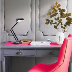Pink Office Desk Decorating With Gray Cbell Designs Llc