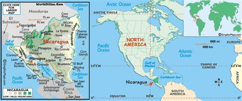 where is nicaragua on the world map maps of nicaragua writes of passage