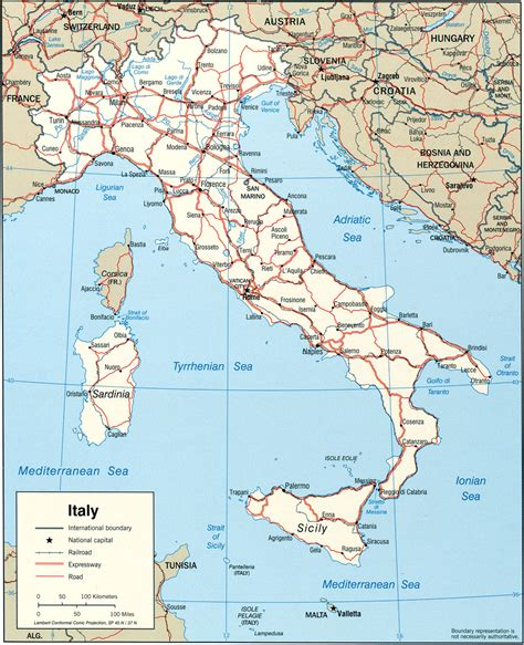 world map of italy map of italy italy travel map italy political map