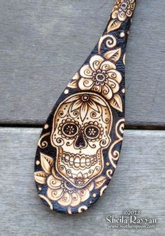 Pyrography Spoons 365 Days Of Crafts Inspiration - wood burning on wood burning wooden spoons
