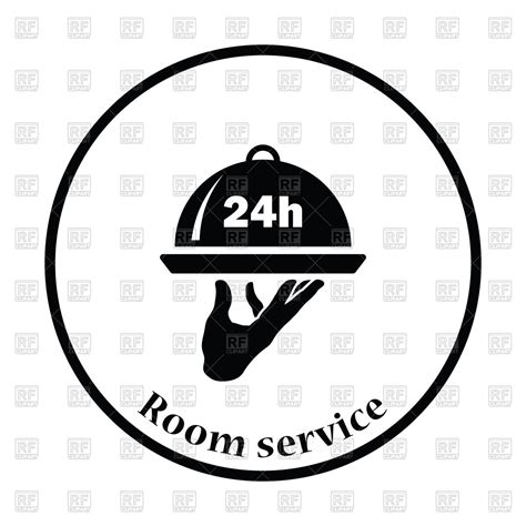 24 hours room service 24 hour room service icon royalty free vector clip image 118266 rfclipart