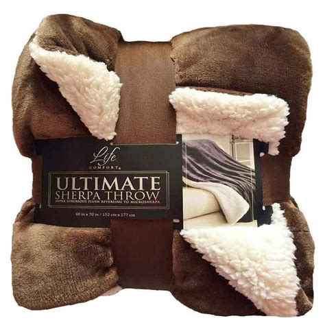 life comfort sherpa blanket ultimate life comfort soft sherpa throw blanket