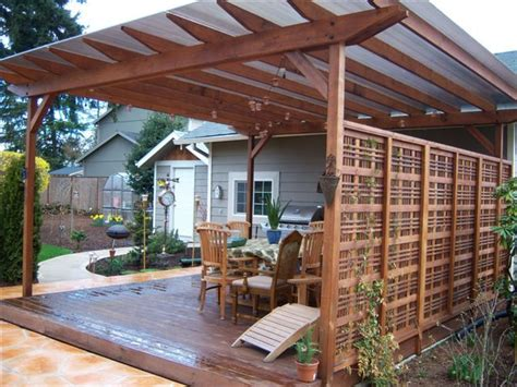 future deck idea   wallpergola   side home