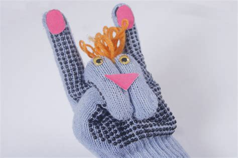How To Make A Puppet Out Of A Paper Bag - how to make a rabbit puppet out of gloves 9 steps with