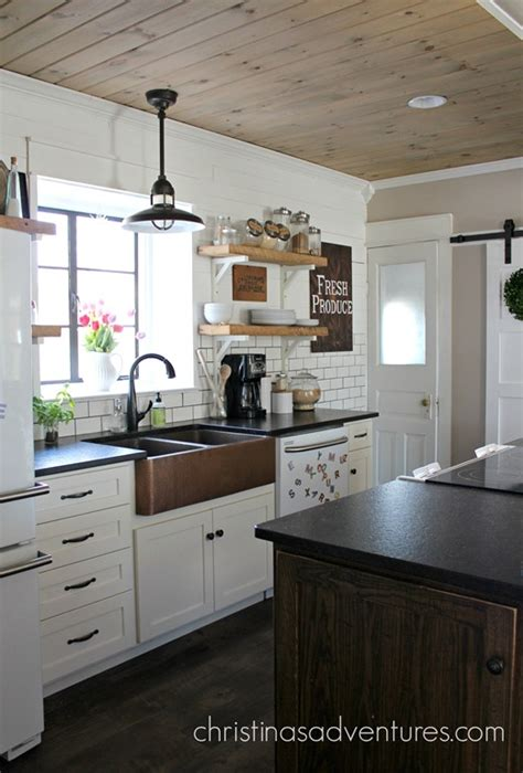replacing kitchen cabinets diy pendant light model 100 our copper sink christinas adventures