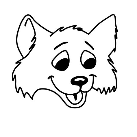 coloring page of a fox face fox face coloring pages
