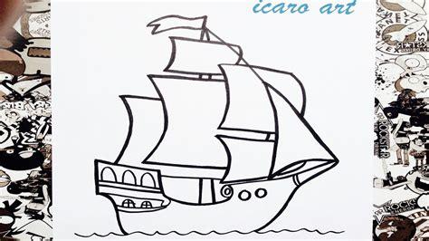 los tres barcos de cristobal colon en dibujo como dibujar un barco paso a paso how to draw a boat
