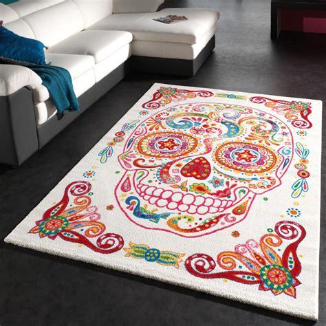 Teppich Bunter Totenkopf Moderner Designer Teppich Skelett