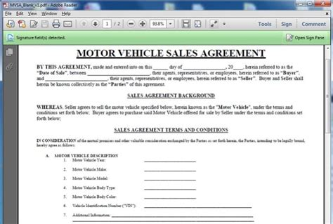 give   motor vehicle sales contract template  geoffreyg