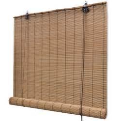 Bamboo Roller Blinds Vidaxl Co Uk Brown Bamboo Roller Blinds 120 X 160 Cm