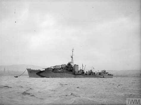 Greenock Records Hms Mahratta 24 March 1943 Greenock A 15579