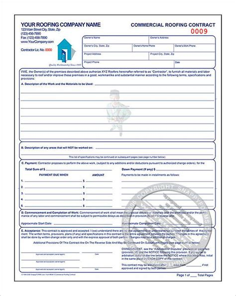 free residential roofing contract template roofing estimate template free premium