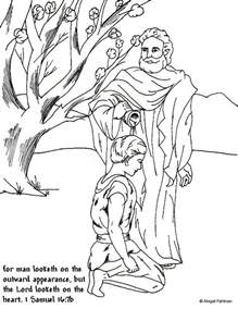 King David Outline by King David Coloring Pages