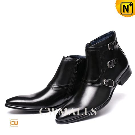 monk boots cwmalls 174 black monk ankle boots cw761350