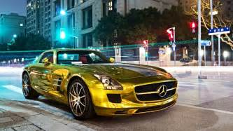 Mercedes And Mercedes Gold Mercedes Sls Amg Wallpapers And Images